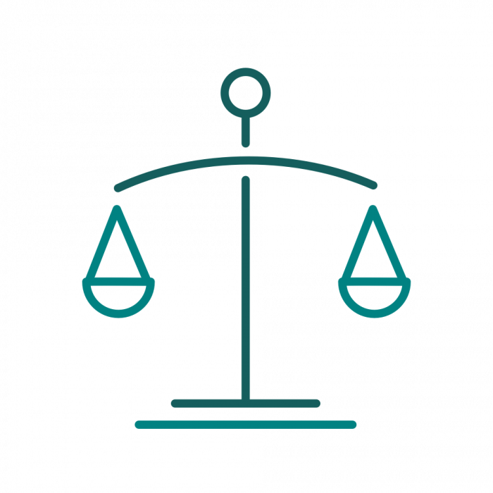 An icon representing measurement and balance.